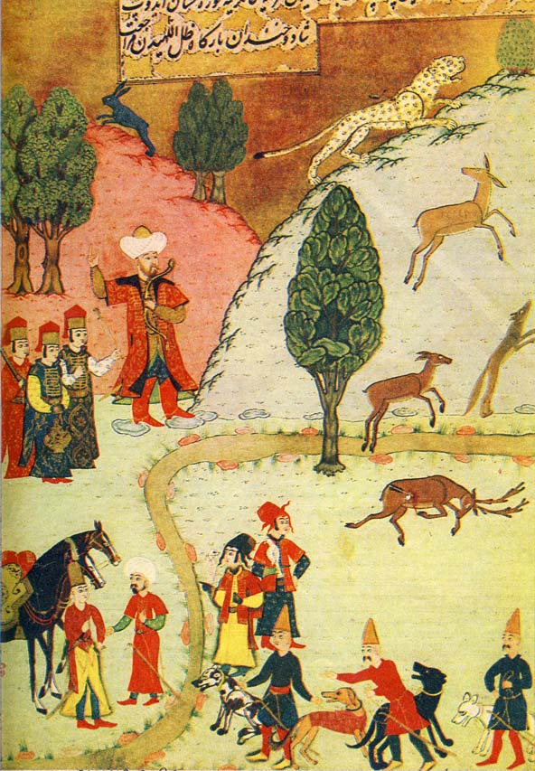 Sultan Beyazid hunting